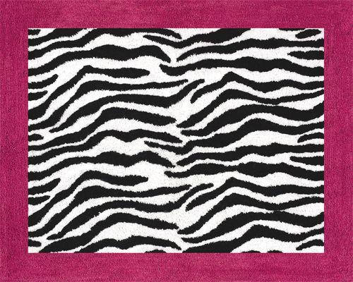 Zebra Rugs Hot Pink Black Print Rug Accent Floor Area