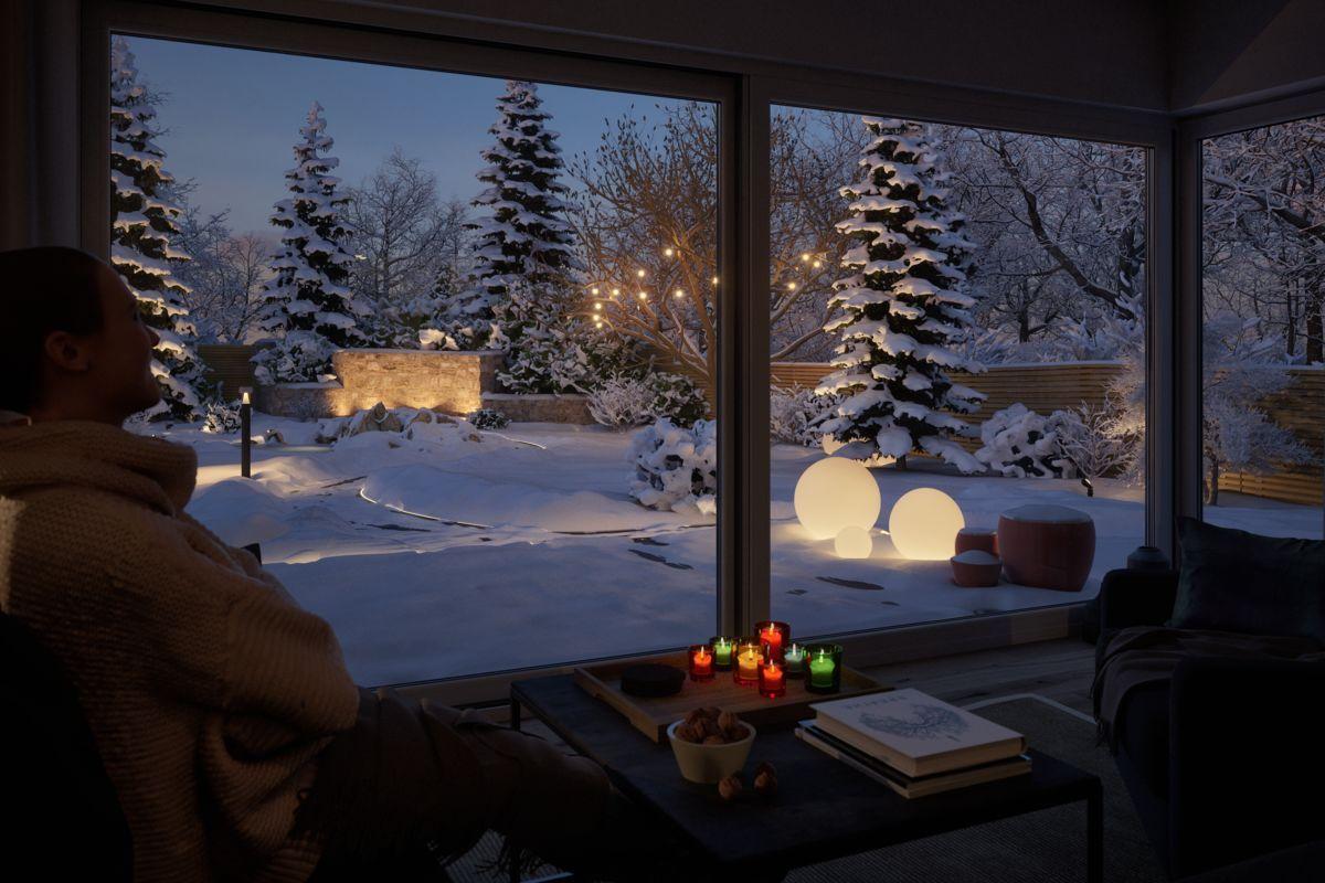 Weihnachtsbeleuchtung Wohnzimmer.Was Gibt Es Schöneres Als Vom Wohnzimmer Aus In Einen
