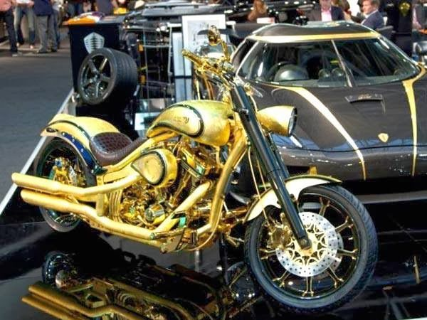 The Most Expensive Bike In The World Is A Gold Plated Diamond Studded Harley Davidson