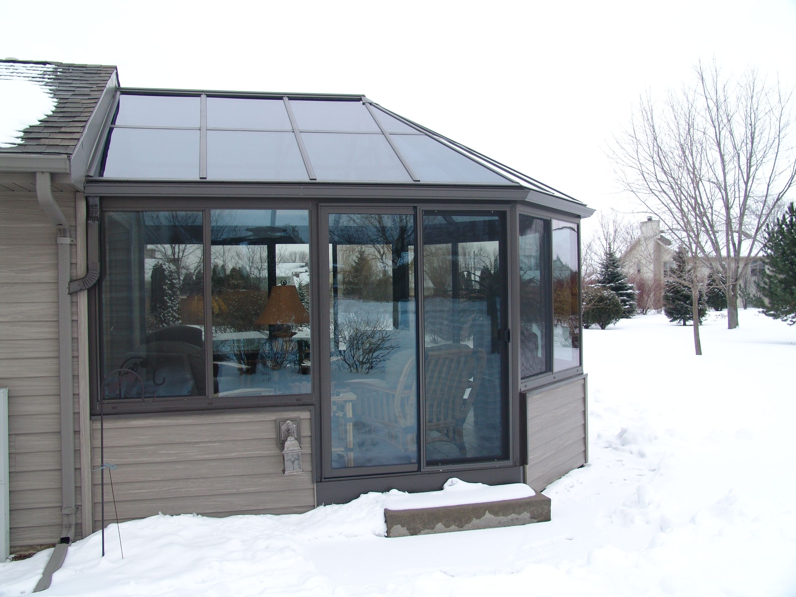 Victorian Sunroom Keeping The Snow Off Will Keep Your View Clear And The Roof Will Have Fewer Issues As The Room Ages Glass Roof Sunroom Sunroom Construction