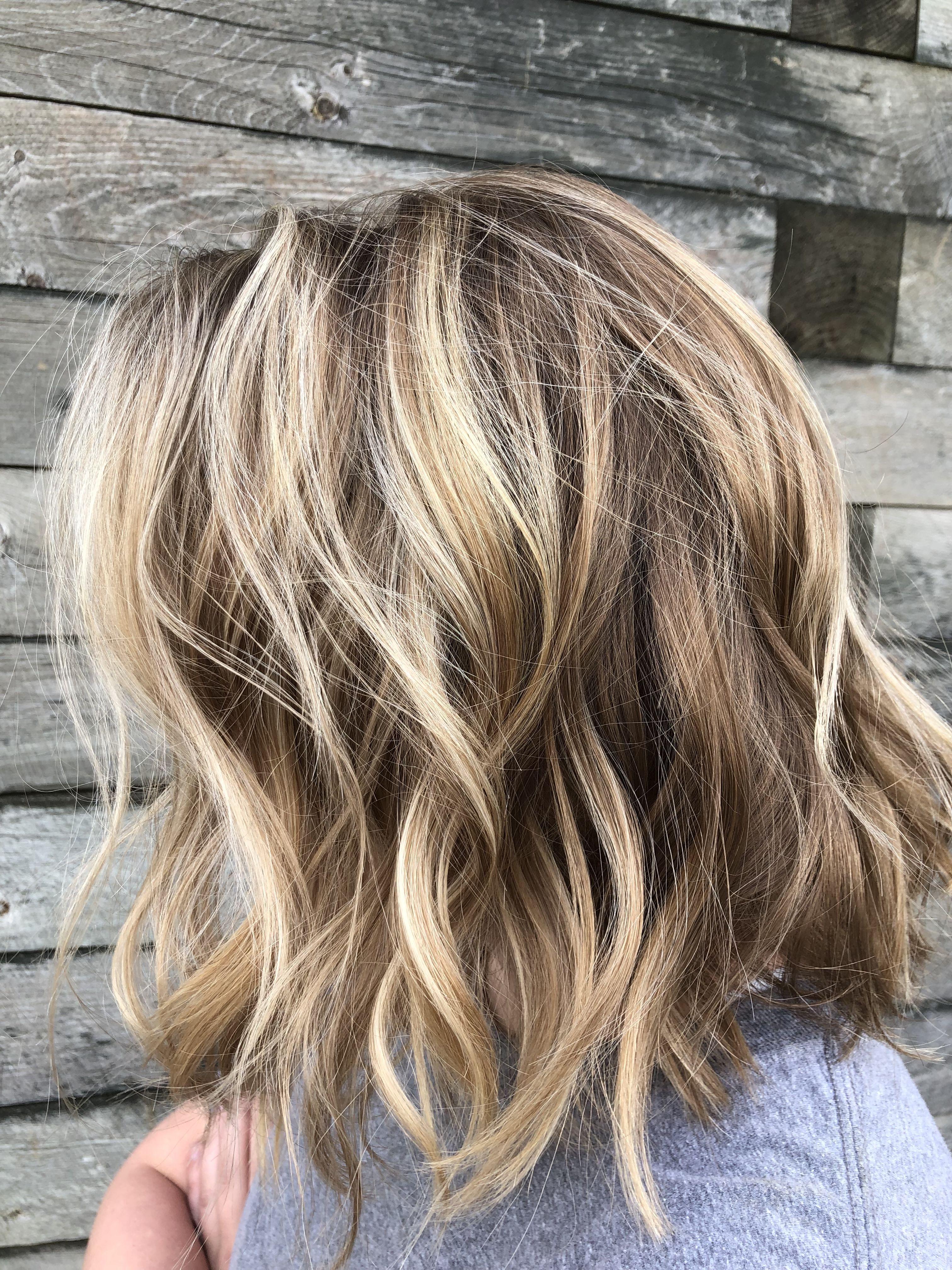 Blonde Balayage With Lowlight Honey Blonde Hair Hair Highlights Blonde Hair Color