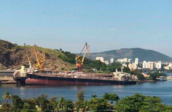 Near complete Brazilian tanker newbuild sinks at pier - Splash 247