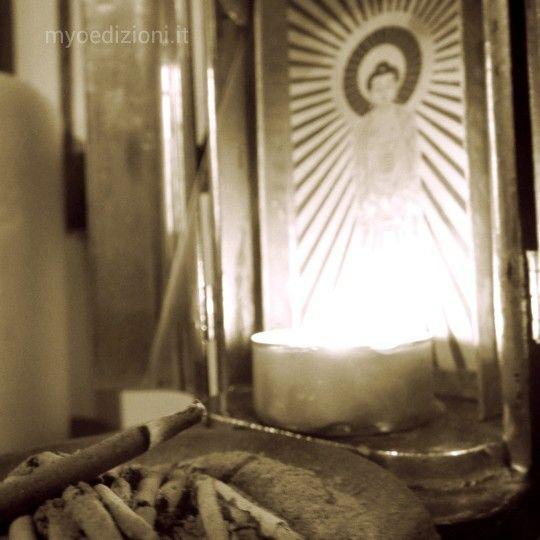 Daily. #Shin #Buddhism #Buddha #Amida #incense #candle #light