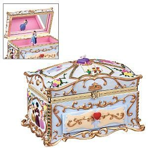 Cinderella Deluxe Musical Jewelry Box 5999 Disney Collectibles