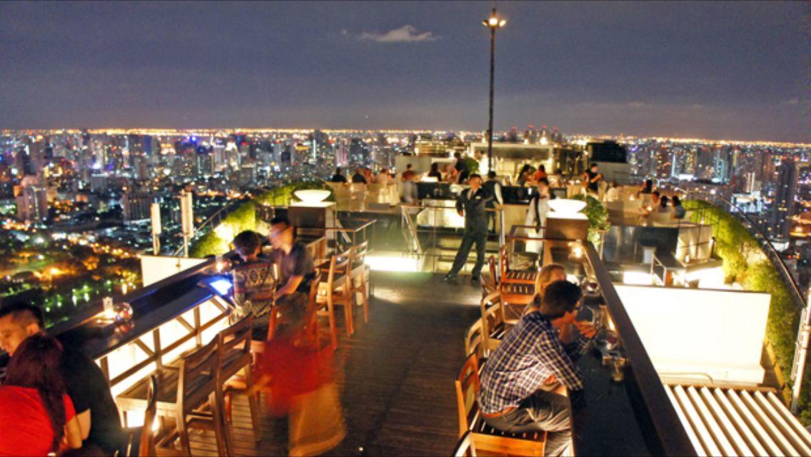 Restaurante alto en Bangkok