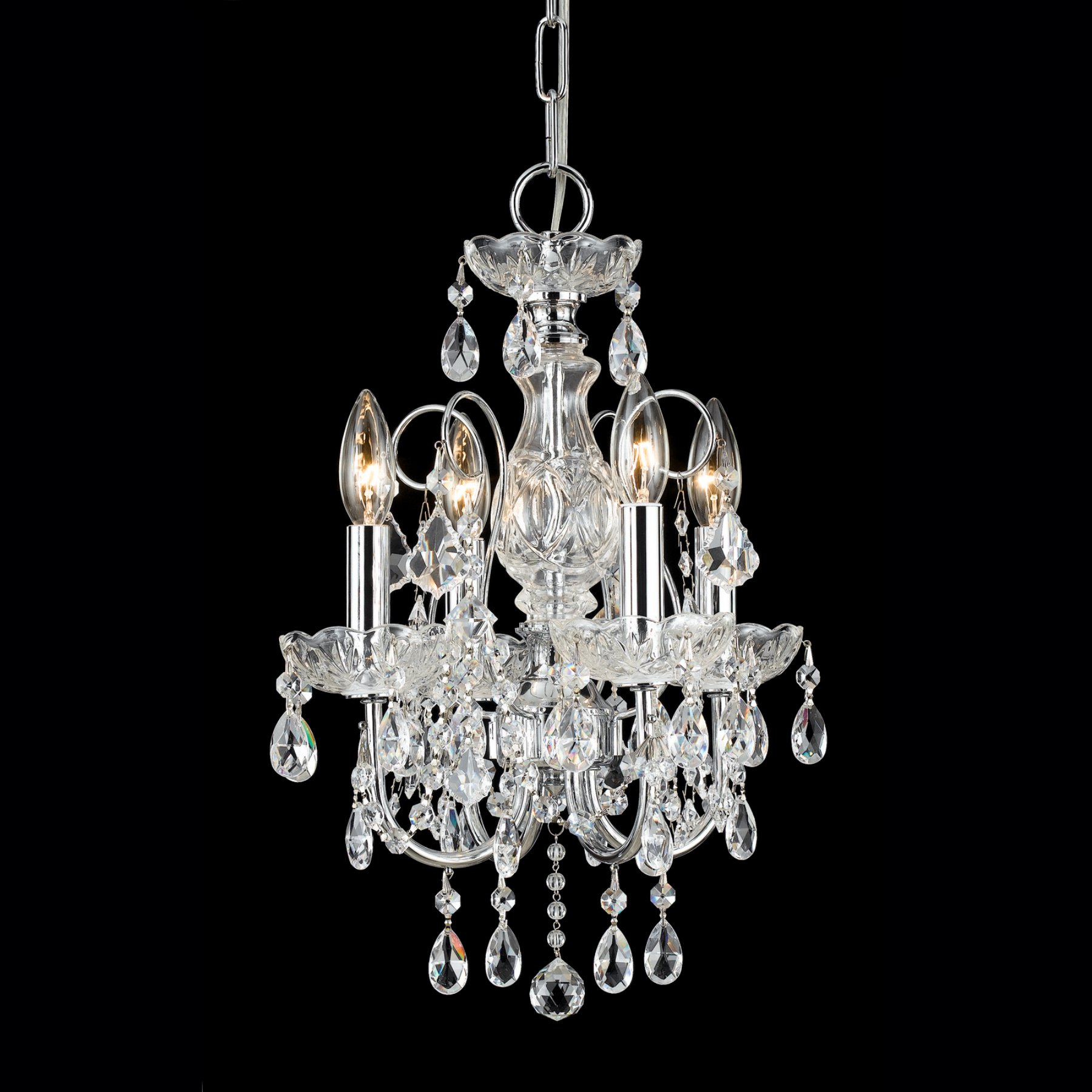 Crystorama Imperial Mini Chandelier - 12w In. Polished Chrome Products In 2019 Lighting