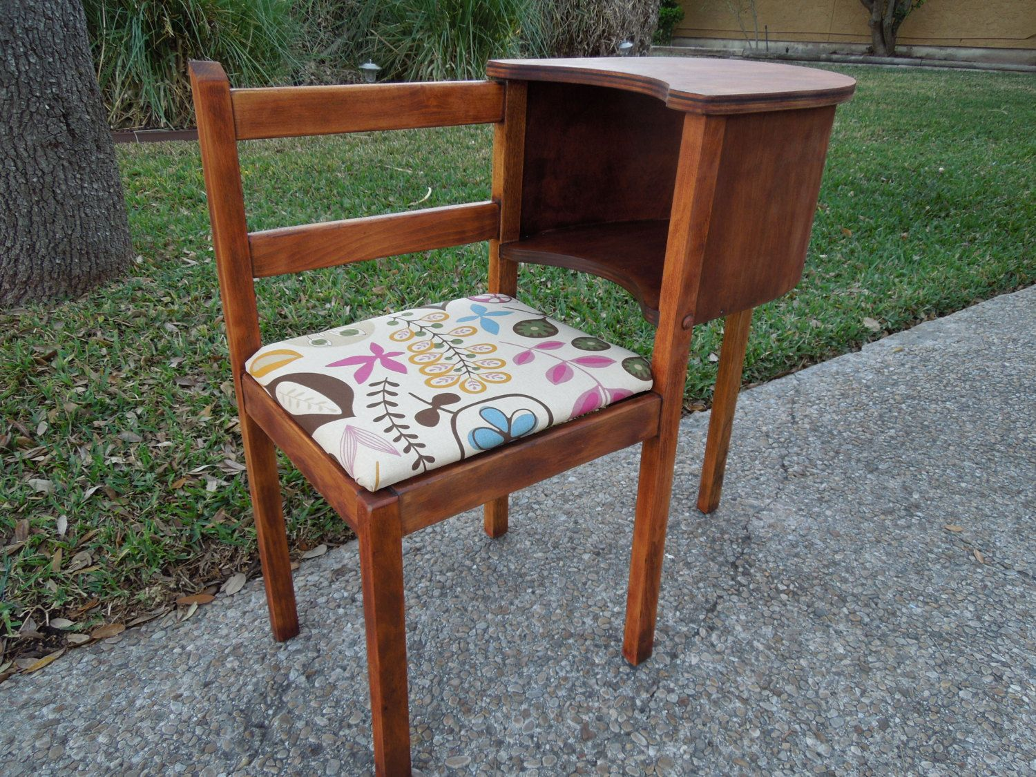 Vintage Telephone Table Gossip Bench Via Etsy Re Do Ideas Pinterest Telephone