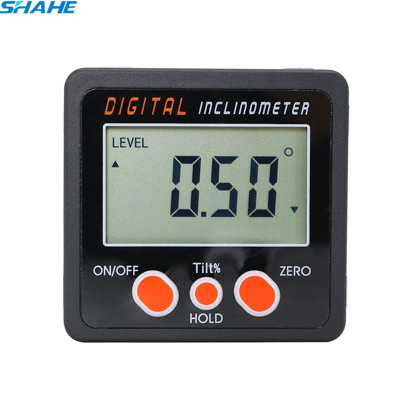 Shahe Aluminum Alloy Digital Protractor Inclinometer Level Box Digital Angle Finder Bevel Box With Bottom Built In Magnet Sha Protractor Angle Finders Bevel