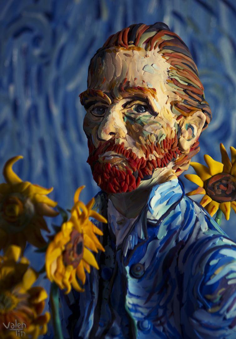 Vincent Van Gogh by Valentin Falconi | Plastilina en 2019