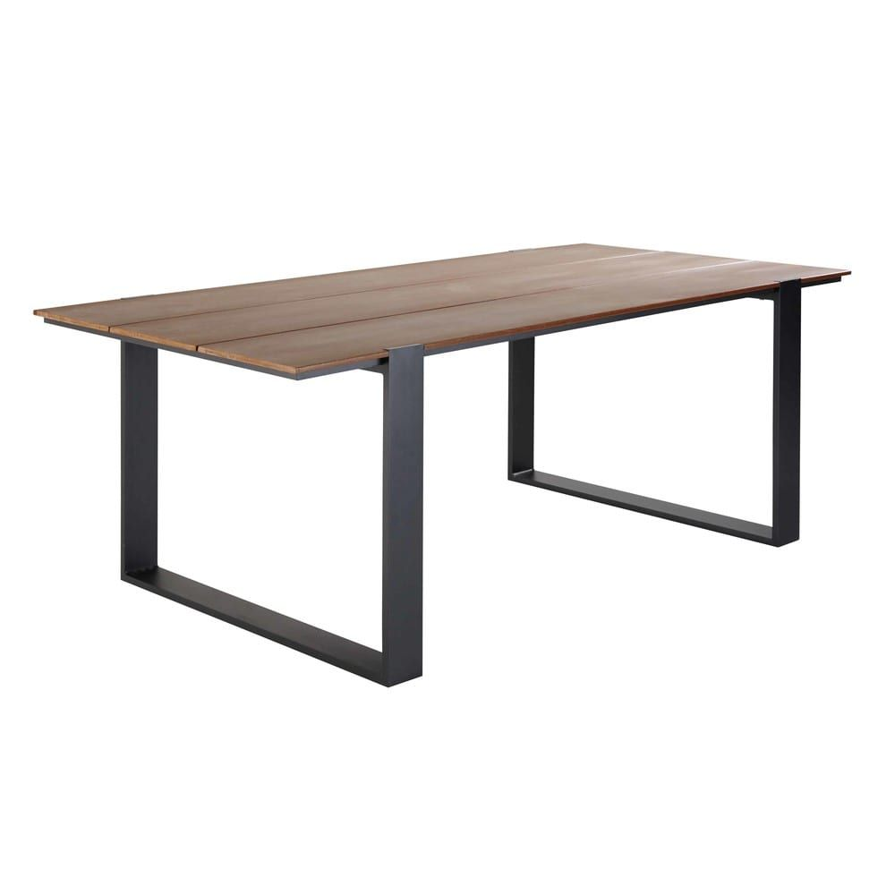 Table De Jardin Composite.Table De Jardin 6 Personnes En Composite Et Aluminium L200