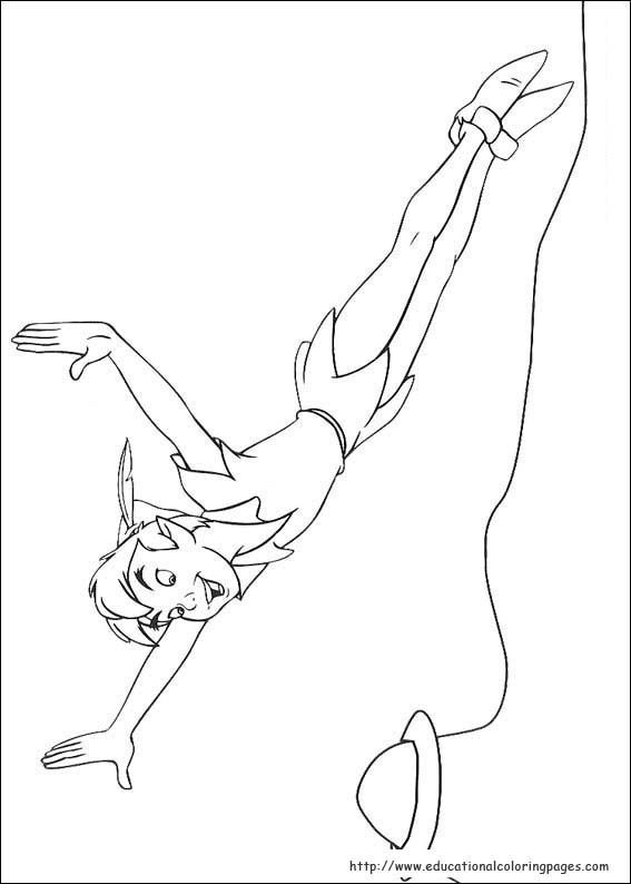 Peter Pan Coloring pages - Educational Fun Kids Coloring Pages and ...
