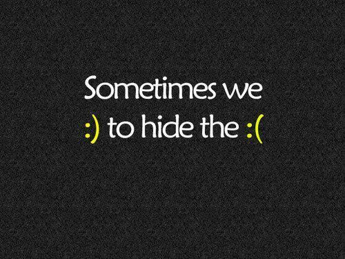 :) and :(