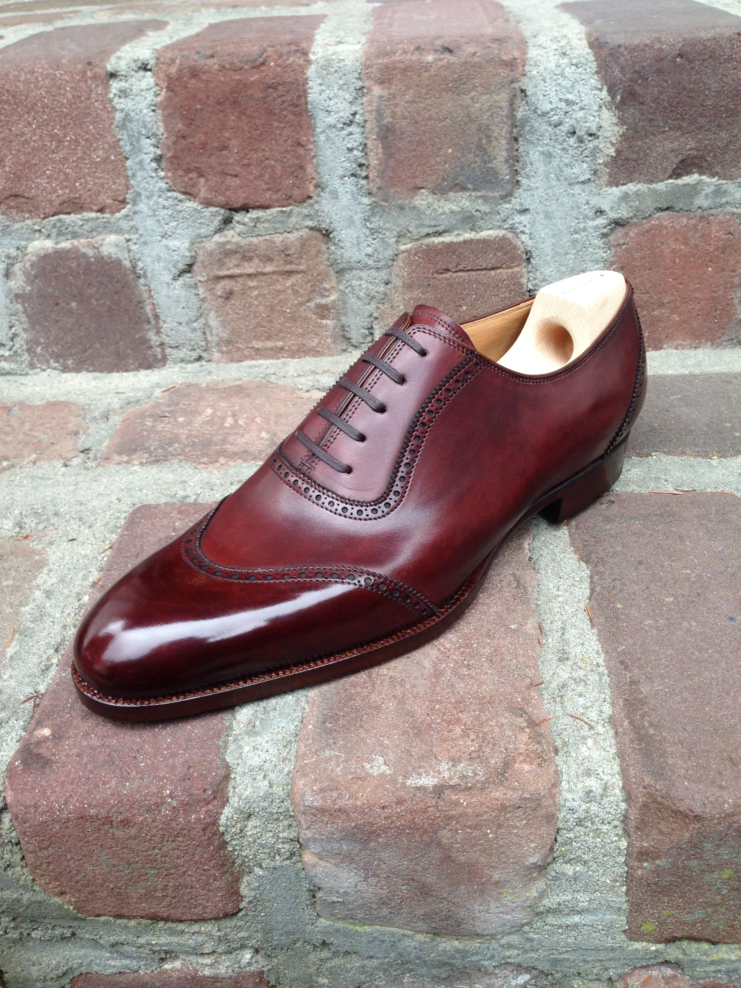 Saint Crispin's mod. 564 U cap toe oxford on classic last