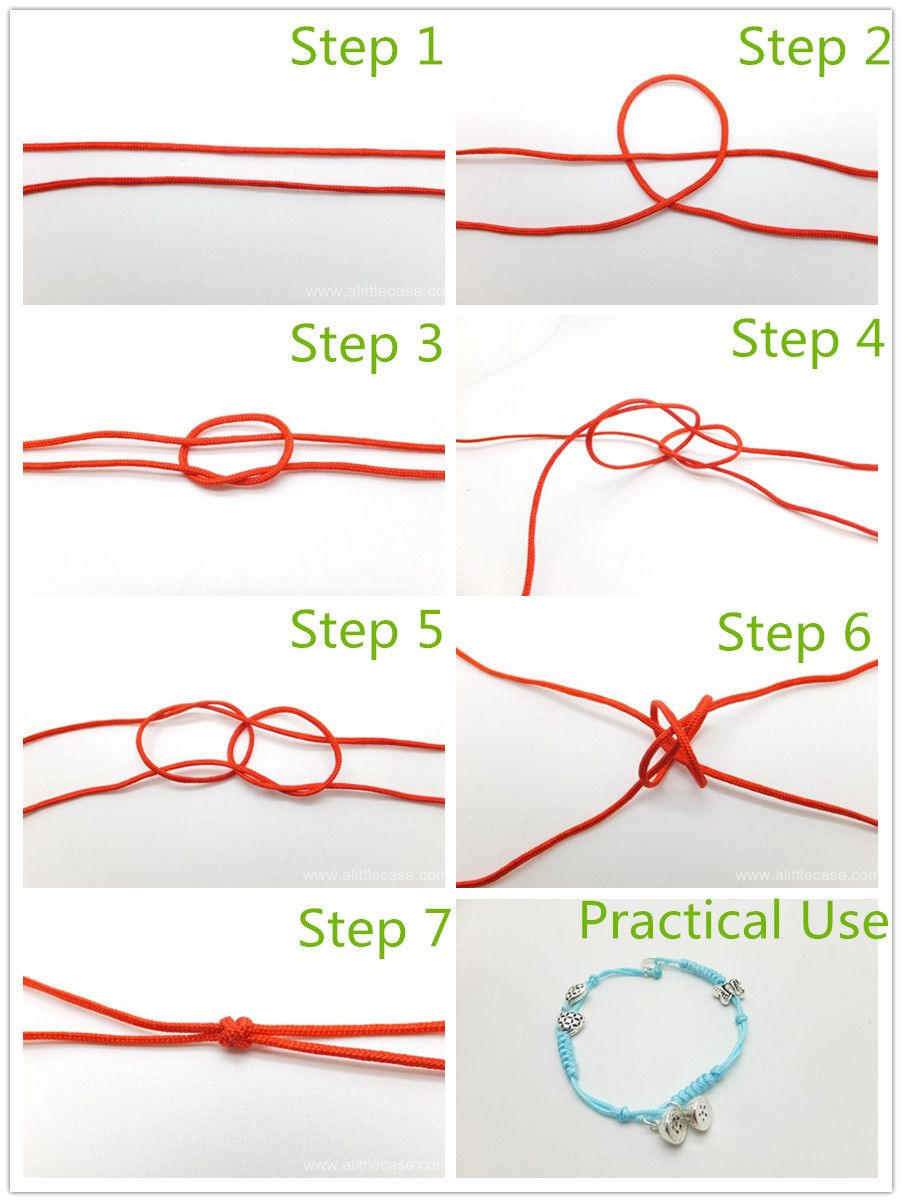 The Basic Decorative Knot For Bracelet Making Double Connection