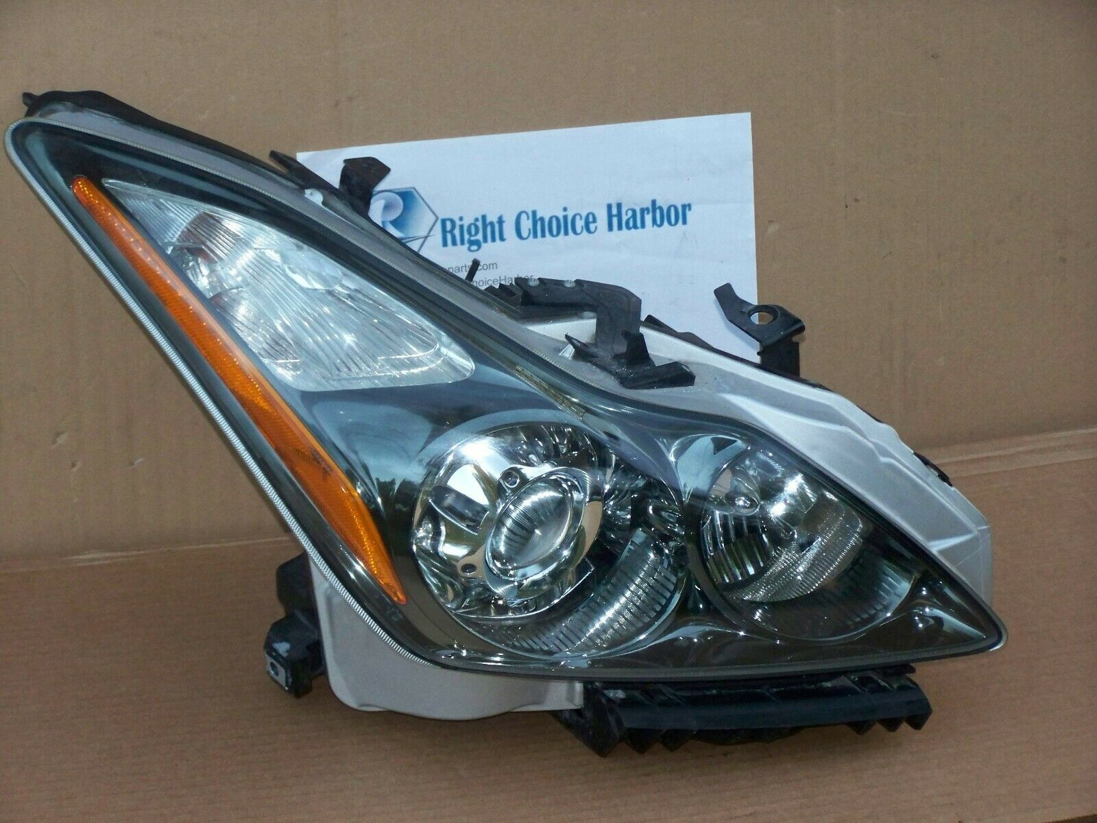 small resolution of 11 15 infiniti g37 q60 coupe convertible hid xenon headlight assembly rh oem rightchoiceharbor