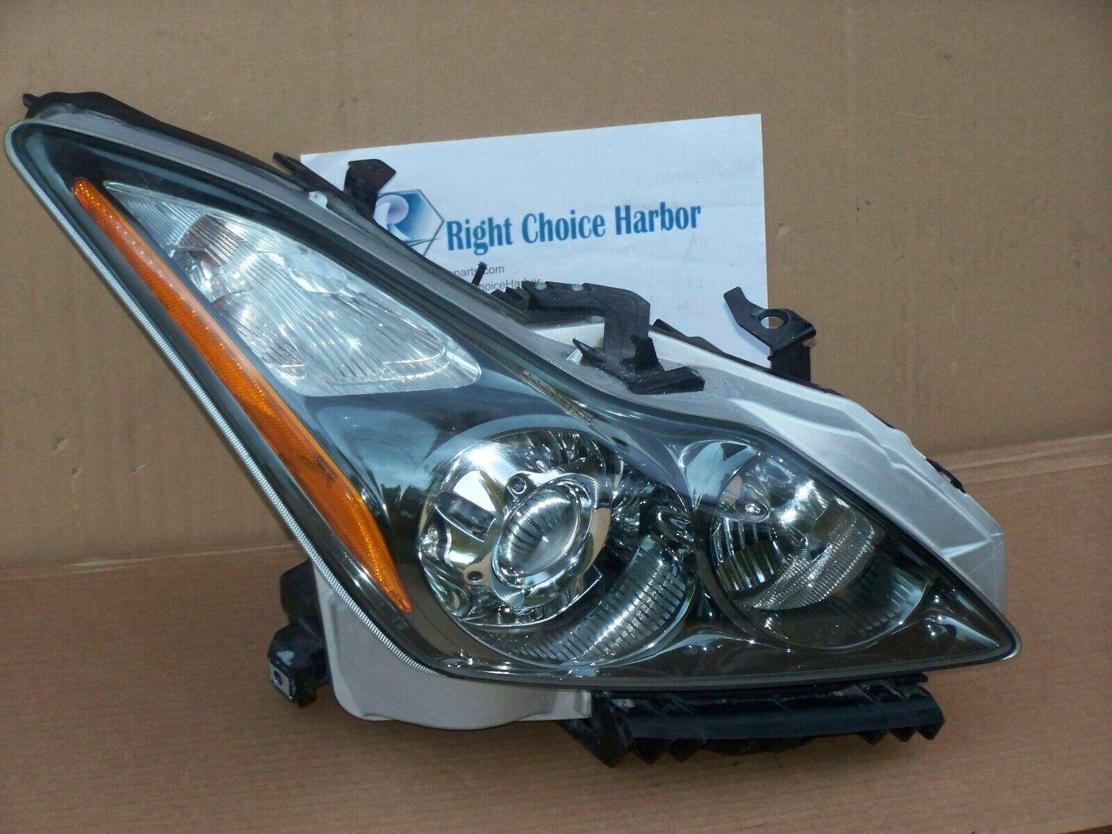 medium resolution of 11 15 infiniti g37 q60 coupe convertible hid xenon headlight assembly rh oem rightchoiceharbor