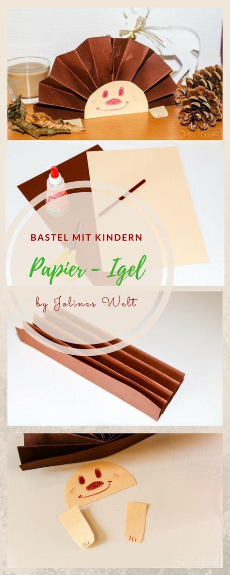 Basteln mit Kindern im Herbst: Igel aus Papier