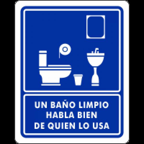 Un baño limpio habla bien de quien lo usa
