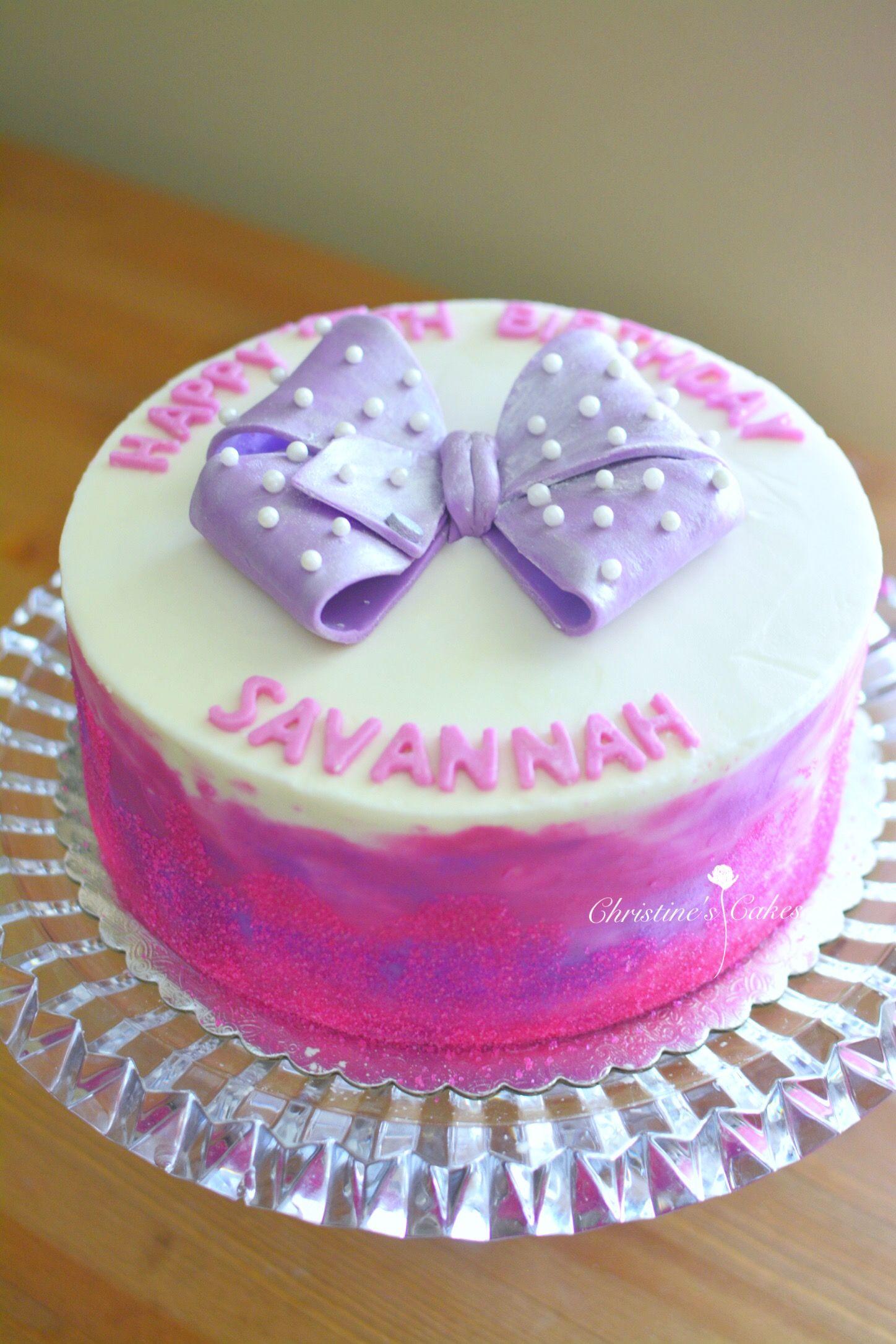 Jo Jo Bow Inspired Birthday Cake Christine In Cakeland