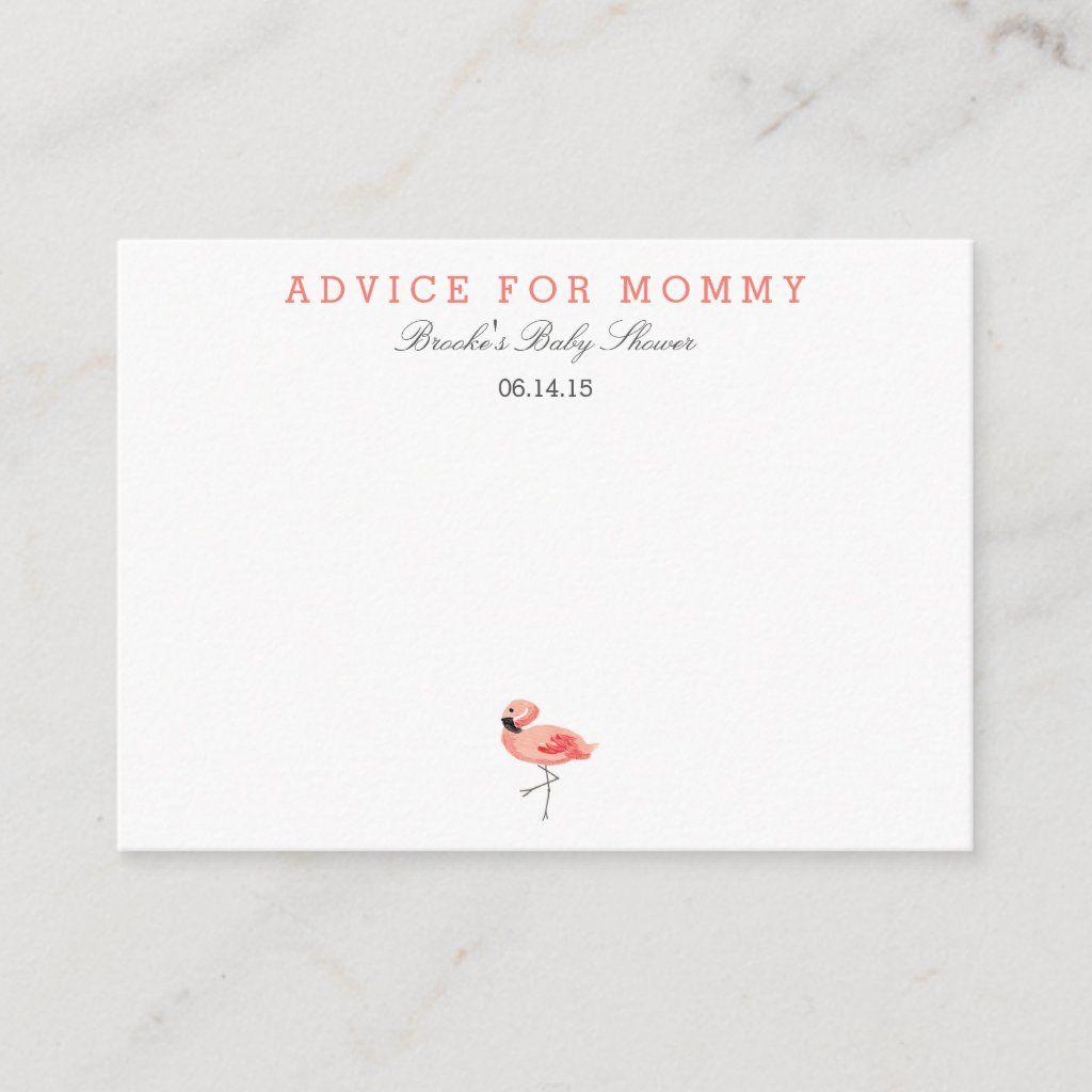 Flamingo Mommy Advice Cards