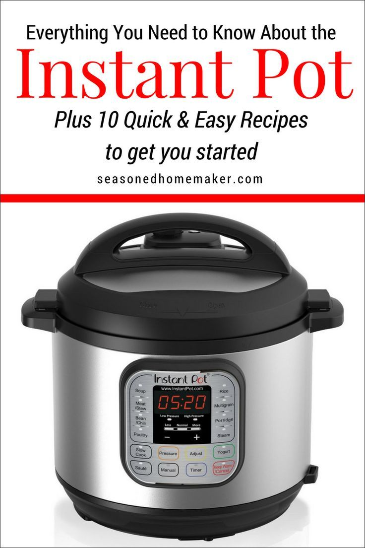 Everything you need to know about the Instant Pot Pressure Cooker PLUS 10 Quick & Easy Recipes to get you started. #instantpot #instantpotrecipes