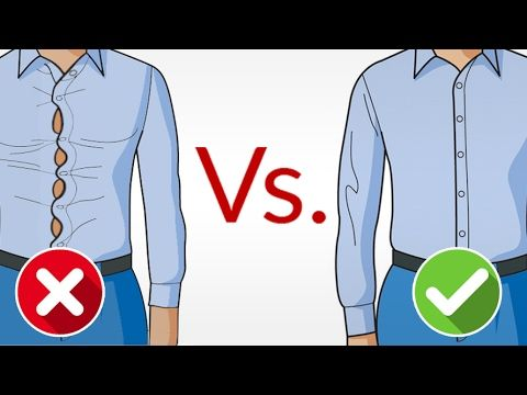 973b75ac6826 How should a dress shirt fit? Simple question, right? But if you look  around, you'll see most men wearing dress shirts... ...that are actually  1-2 sizes too ...