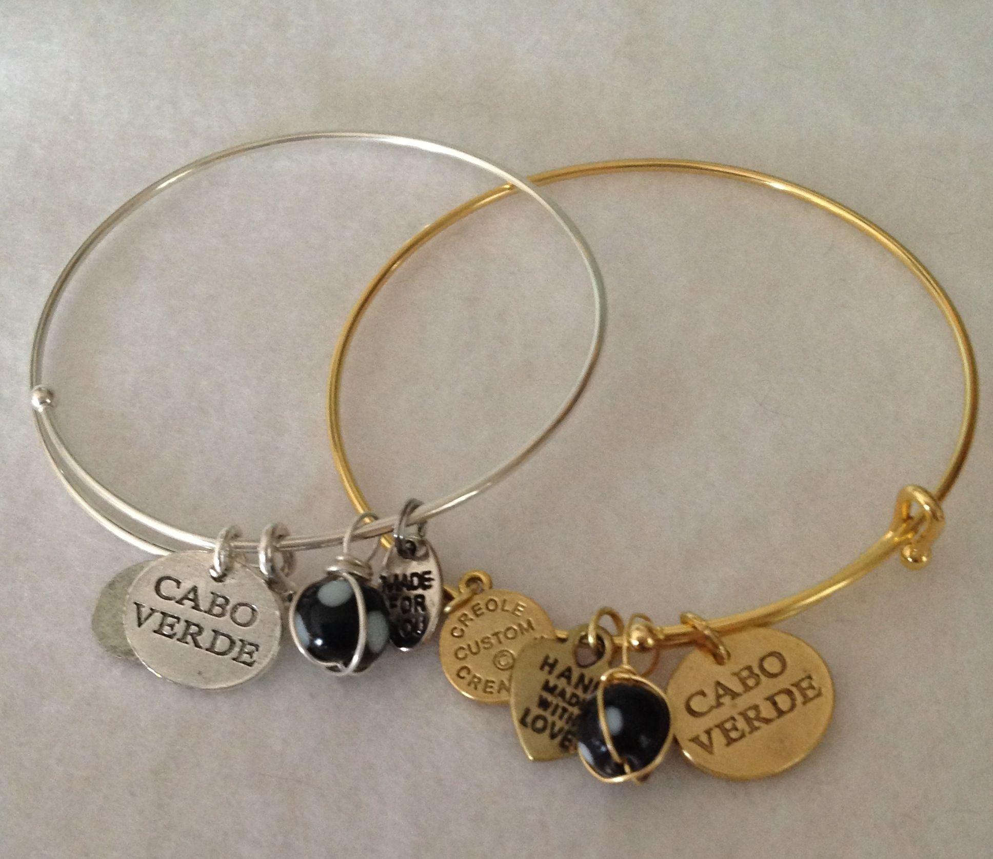 """e A Kind Adjustable """" Cabo Verde Charm"""" Bracelet Antique"""