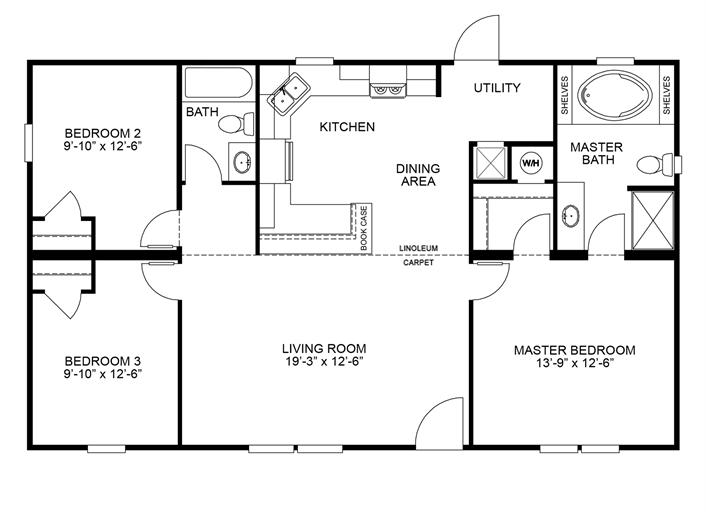 Clayton Homes Home Floor Plan Manufactured Homes Modular Homes Mobile Home House Floor Plans House Blueprints Modular Homes For Sale