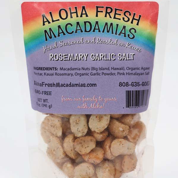 Macadamia Nuts - Rosemary Garlic Salt, by Aloha Fresh Macadamias