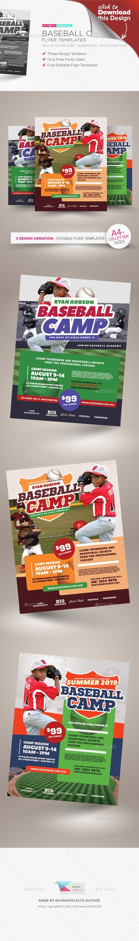 baseball camp flyer templates pinterest flyer template template and event flyers