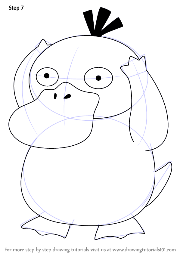 Learn How To Draw Psyduck From Pokemon Pokemon Step By Step Drawing Tutorials Pokemon Drawings Drawings Pokemon