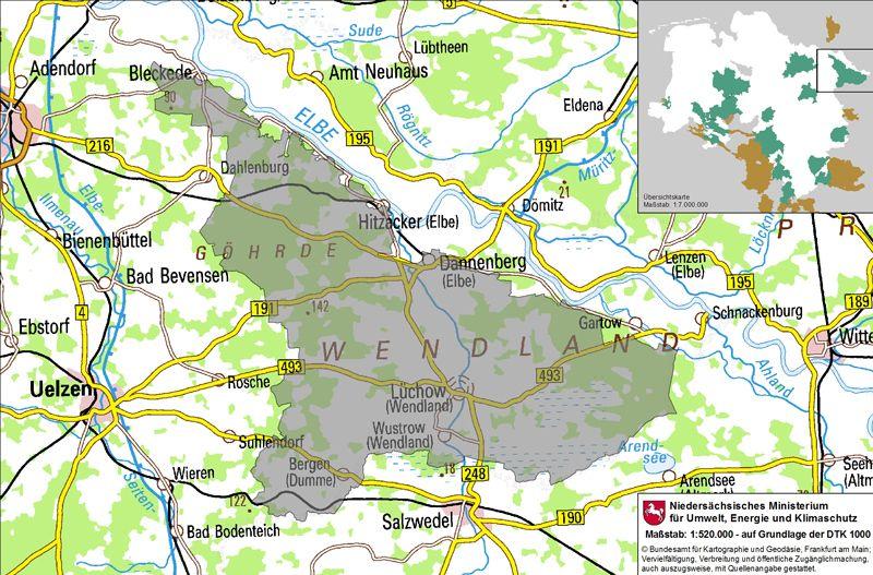 Kulturelle Landpartie Karte.Wendland Ubersichtskarte I Travel Deutschland In 2019