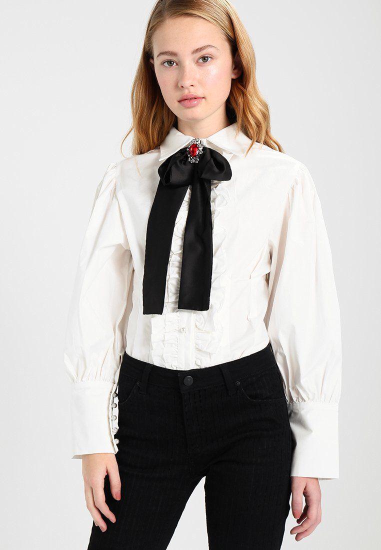GEMMA RUFFLE - Hemdbluse - white | Ruffles and Fashion