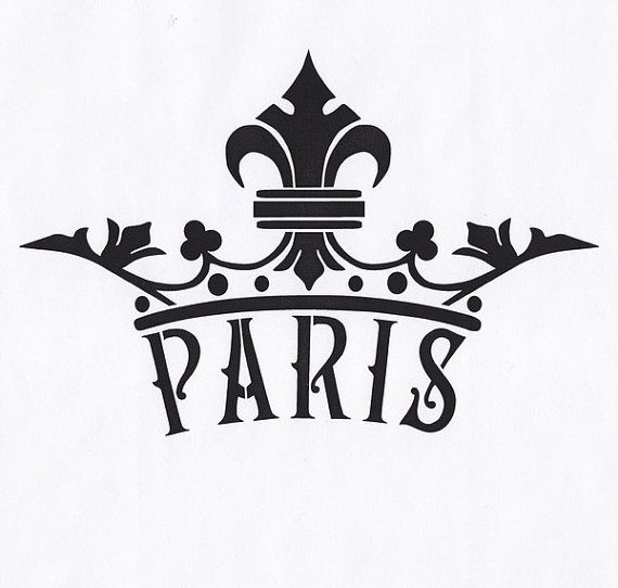 graphic relating to Fleur De Lis Stencil Printable called Paris Stencil, Fleur de Lis, Crown Stencil, French Stencil