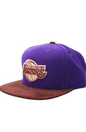 bf80a21179f45 123STRAPBACKS Los Angeles Lakers Suede Bill Strapback HatPurpleBrown Los  Angeles Lakers