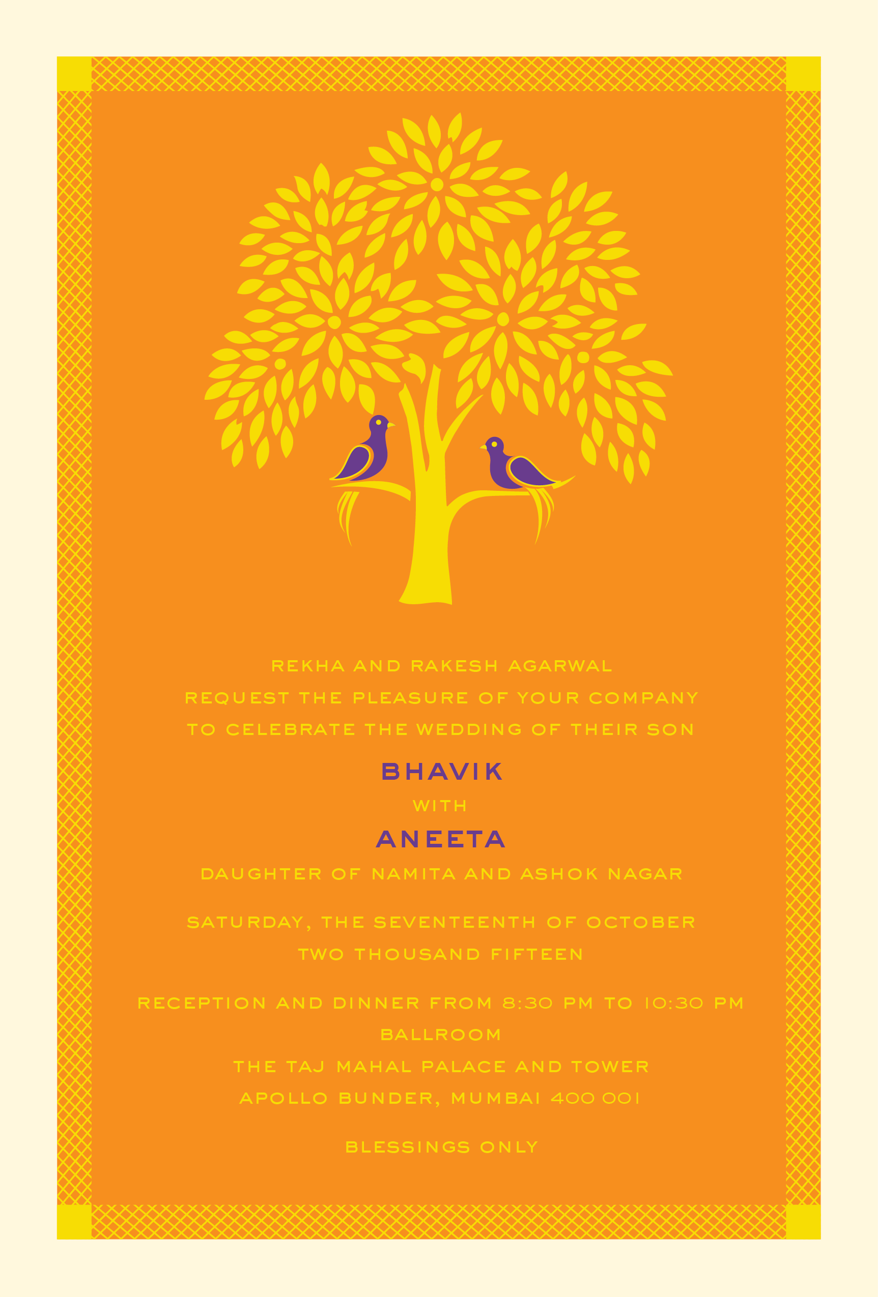 Tree Of Life A Modern Indian Wedding Invitation Card