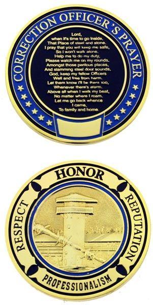 Correction Officer Prayer Challenge Coin   Coins   Correctional