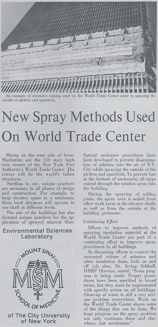 World Trade Center Construction Asbestos Spray Application | Things