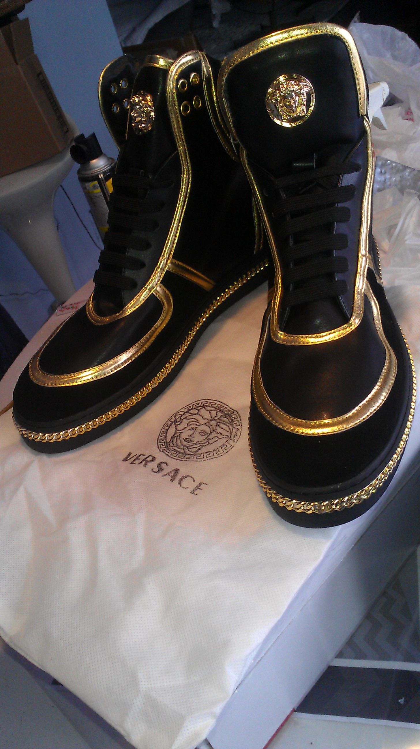 Mens fashion shoes, Versace sneakers