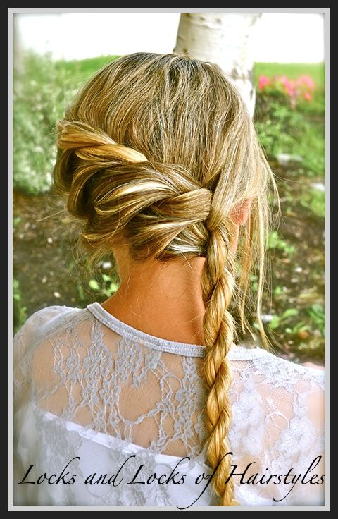 Locks and Locks of Hairstyles: Bohemian Twist with a Rope Twist ...