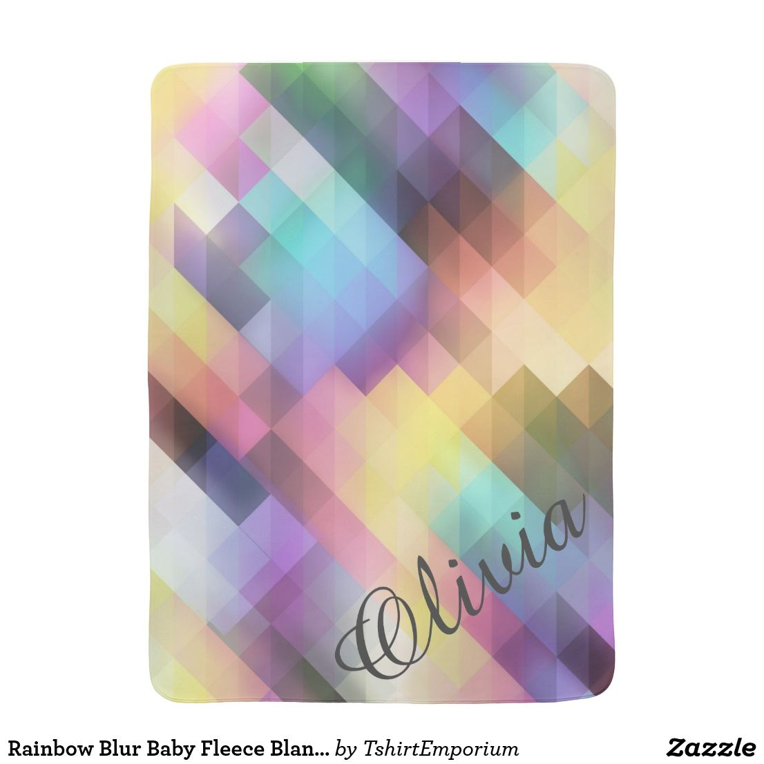 Rainbow Blur Baby Fleece Blanket