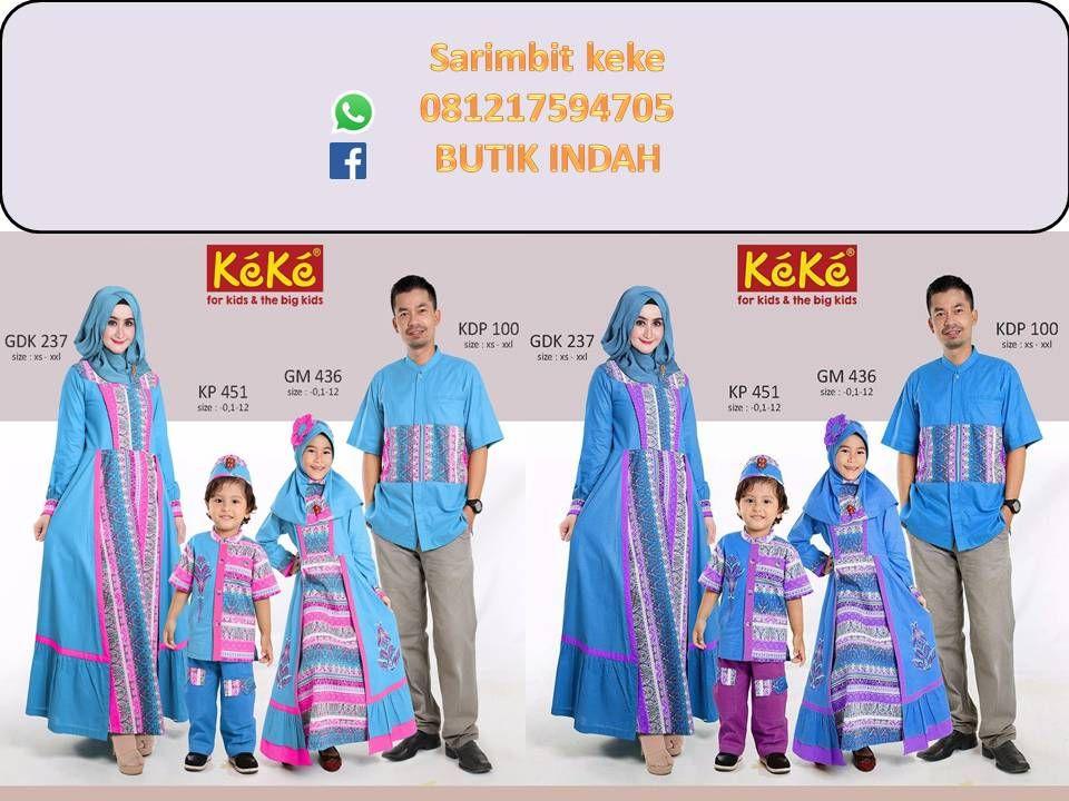 Sarimbit Batik Gamis Sarimbit Batik Muslim Keluarga Sarimbit