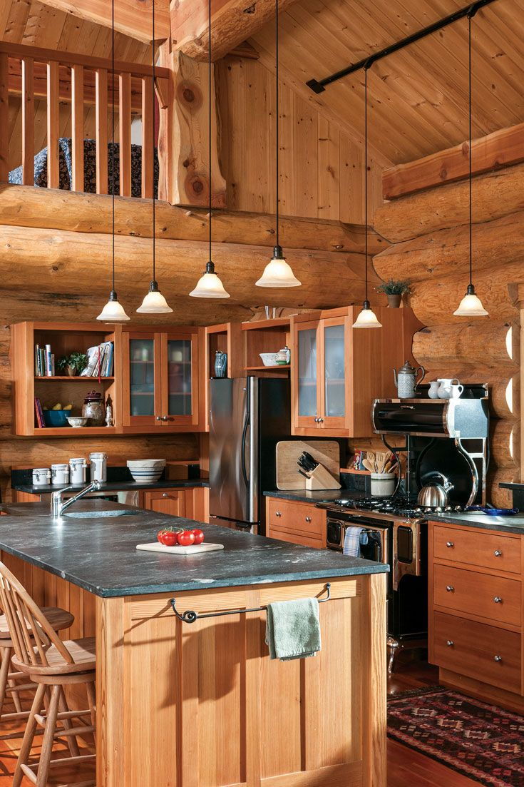 Photo of Montana Log Home Kitchen