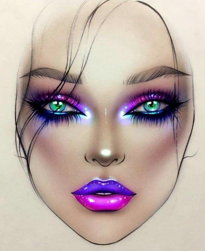 макияж только карандашом в картинках