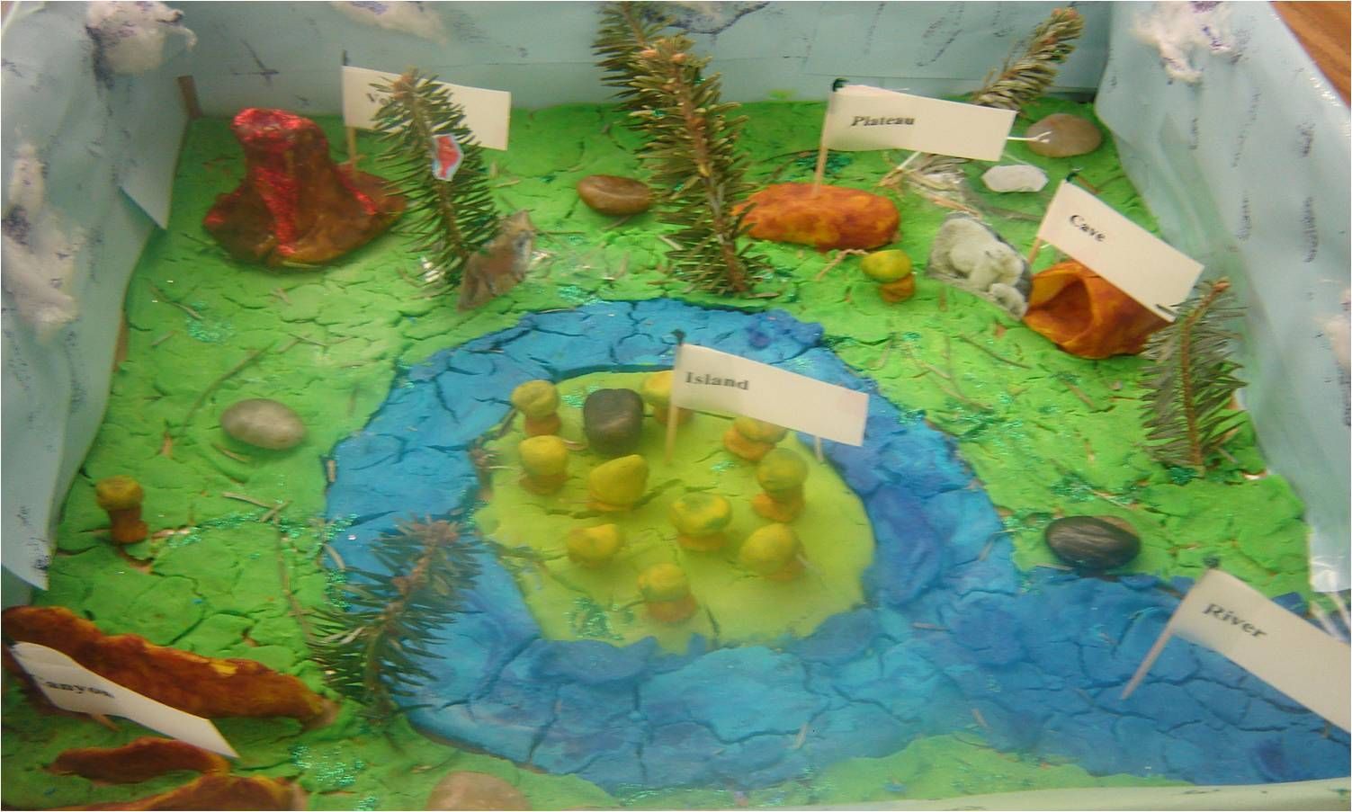 What Is A Land Form  How Make Landform Island Project From Paper