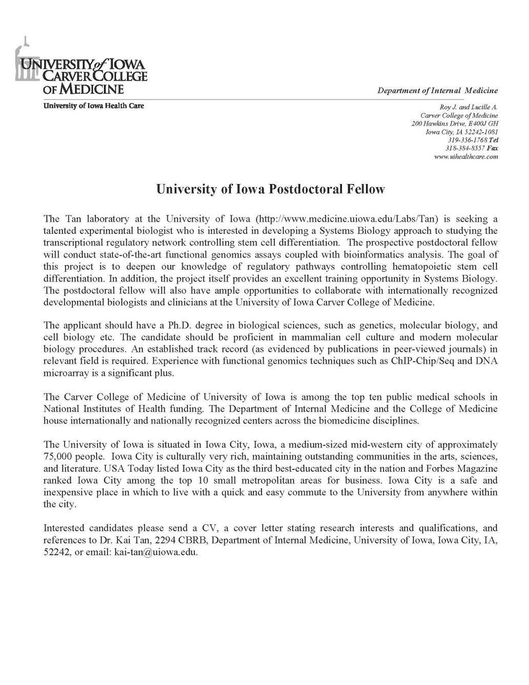 Cover Letter For Assistant Professor Position Jianbochen Postdoc