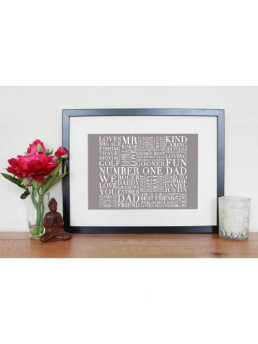 Father's Day Personalised Best Dad Print