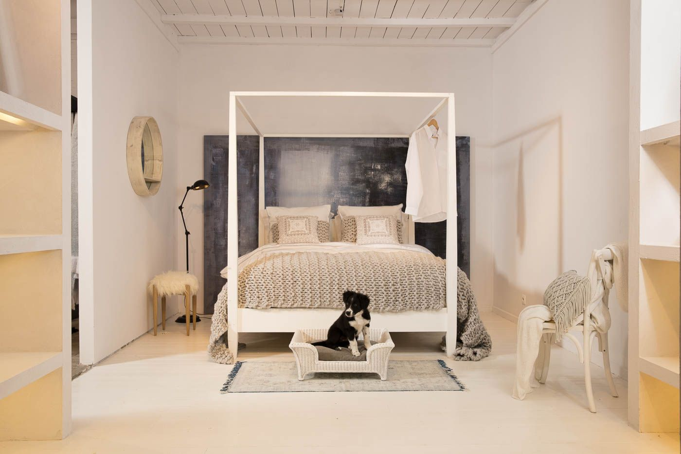 fancy dog beds furniture. Stylish Dog Bed - Paco Lloyd Loom Stonewashed Grey Lord Lou Fancy Beds Furniture