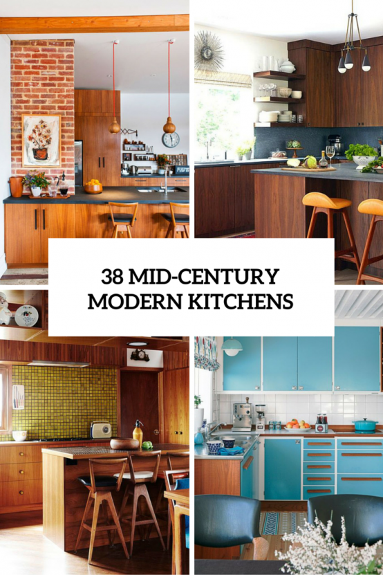 39 Stylish And Atmospheric Mid Century Modern Kitchen Designs