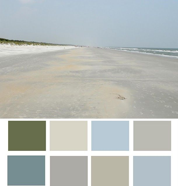 The beach in your home.  Love these colors!